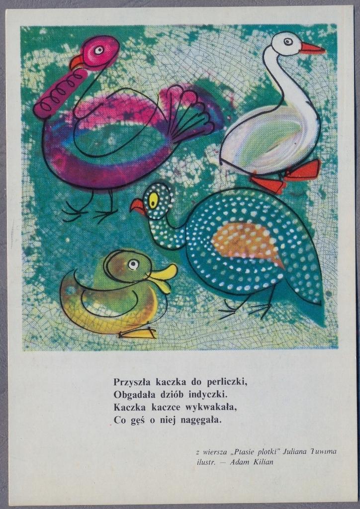 Adam Kilian 1964r Ptasie Plotki Tuwima M967