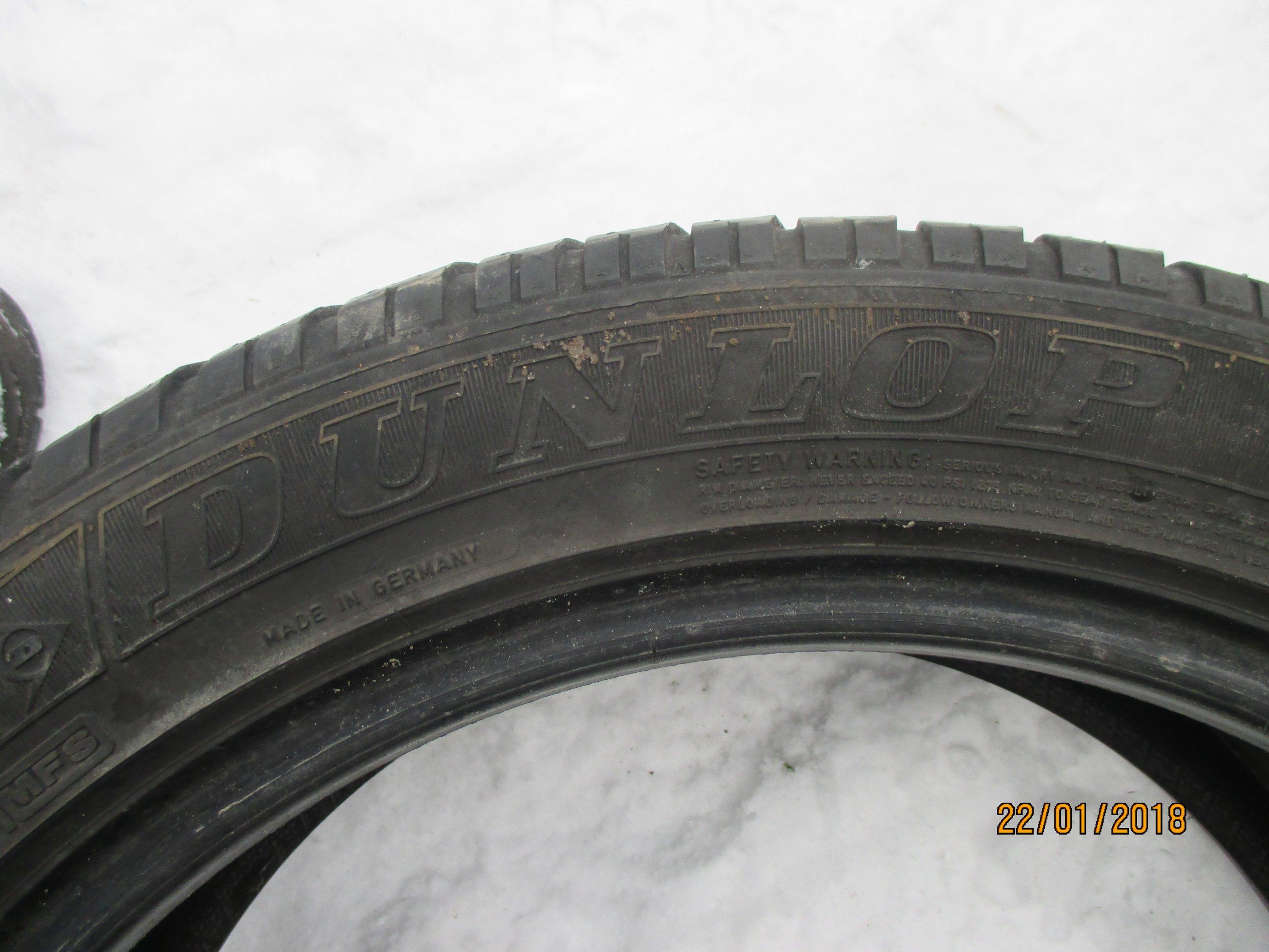 Opony Zimowe Dunlop 22550 R18 4 5mm 2szt łuków 7146971546