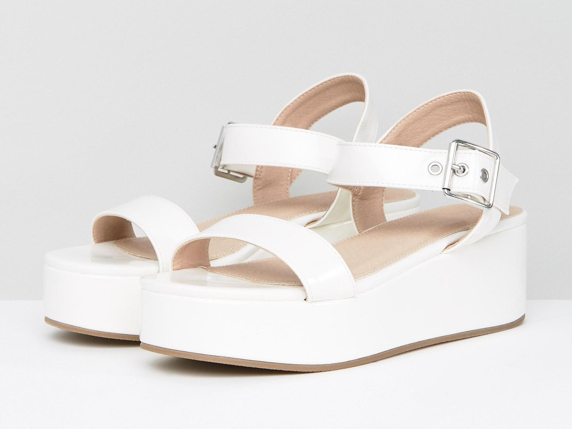 Aktualne Białe Sandały na Platformie 36 - 7603412266 - oficjalne archiwum OL67