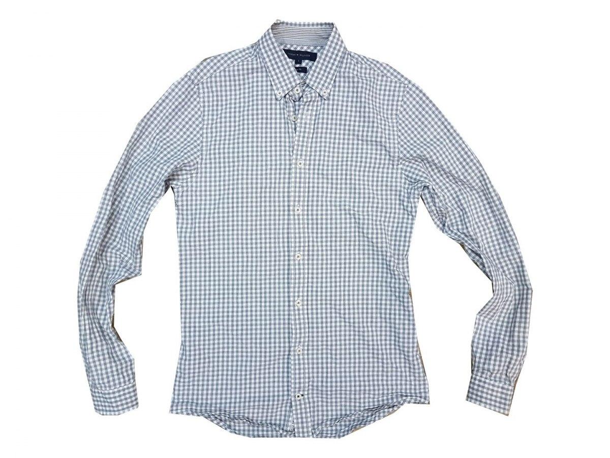 359301165 TOMMY HILFIGER koszula w kratę SLIM FIT NOWA S - 7359209177 ...