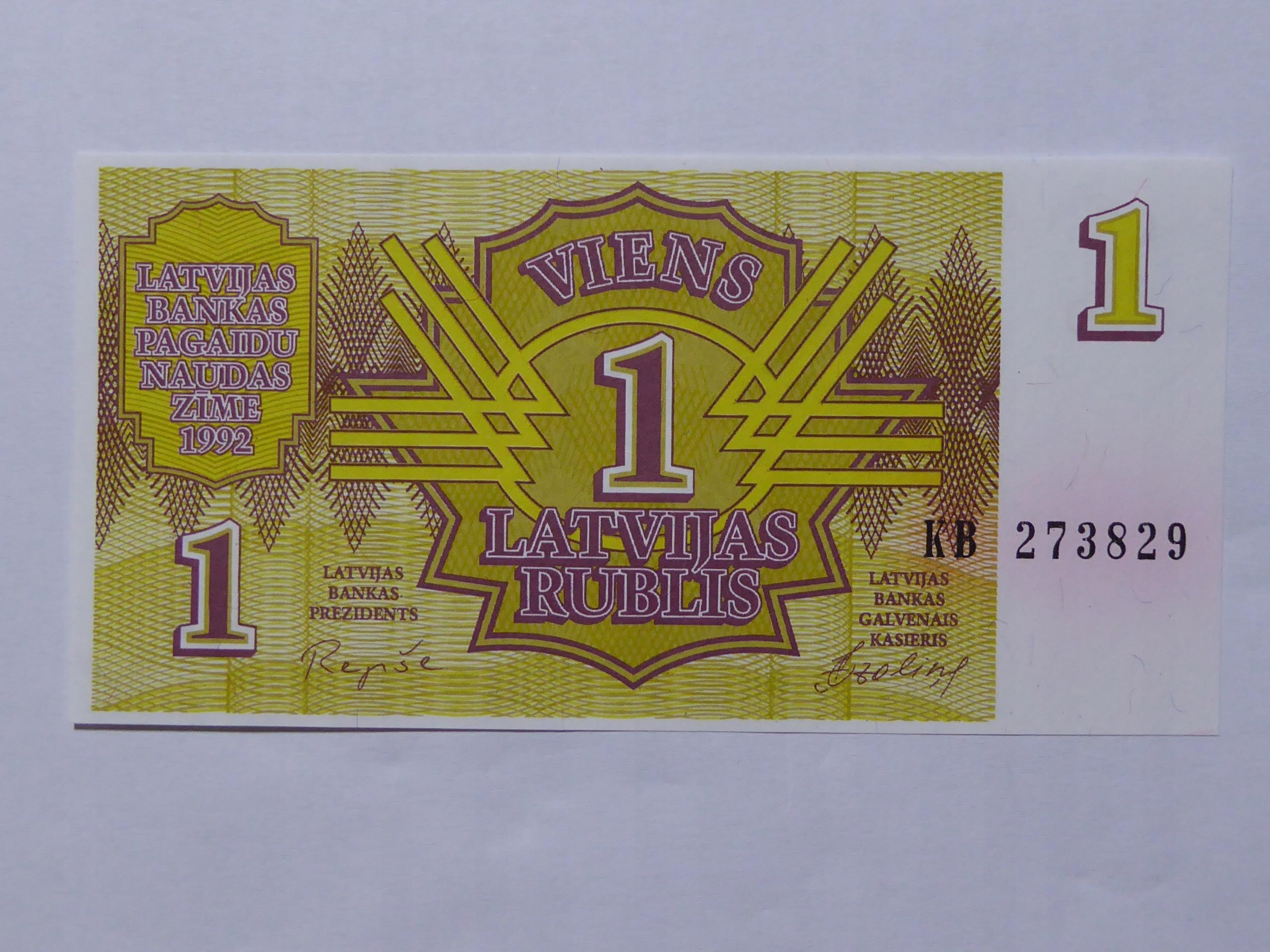 1 rubel 1992 Lotwa - 168