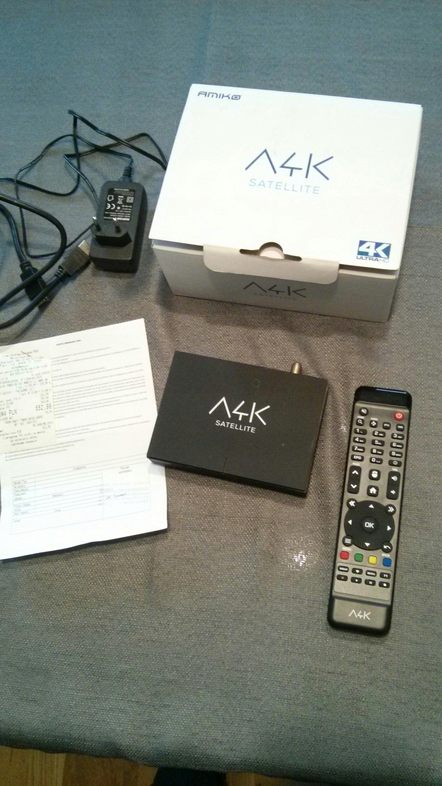 Amiko A4K Android - tuner sat, kodi, oscam, tnk