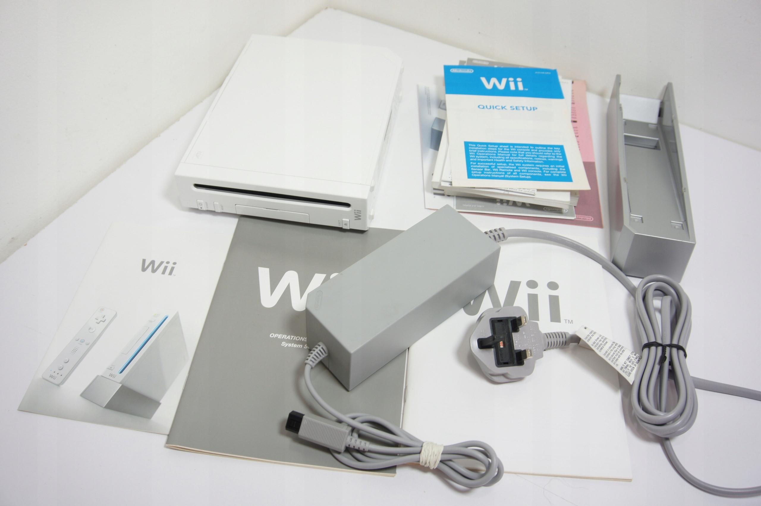 Nintendo Wii RVL-001 (Eur) + Zasilacz Podstawka...