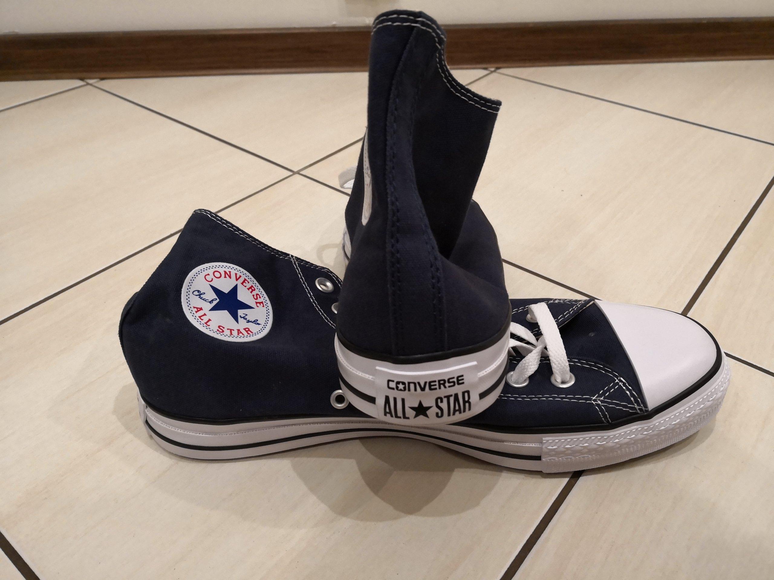 Trampki Converse niebieskie 44 długie wysokie 7399583021