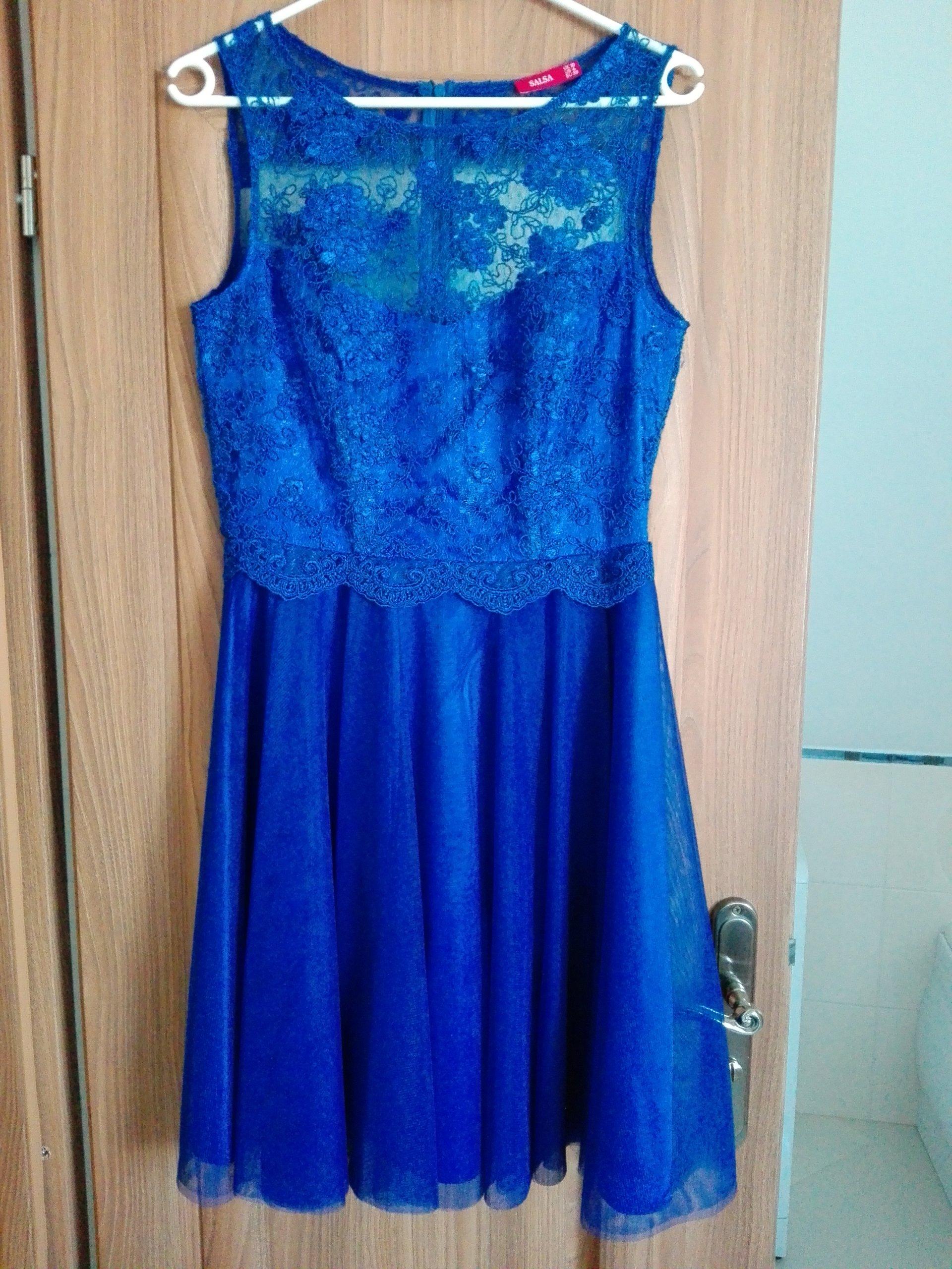 8f74a1c9b7 Sukienka koronkowa chabrowa roz.38 - 6911232764 - oficjalne archiwum ...