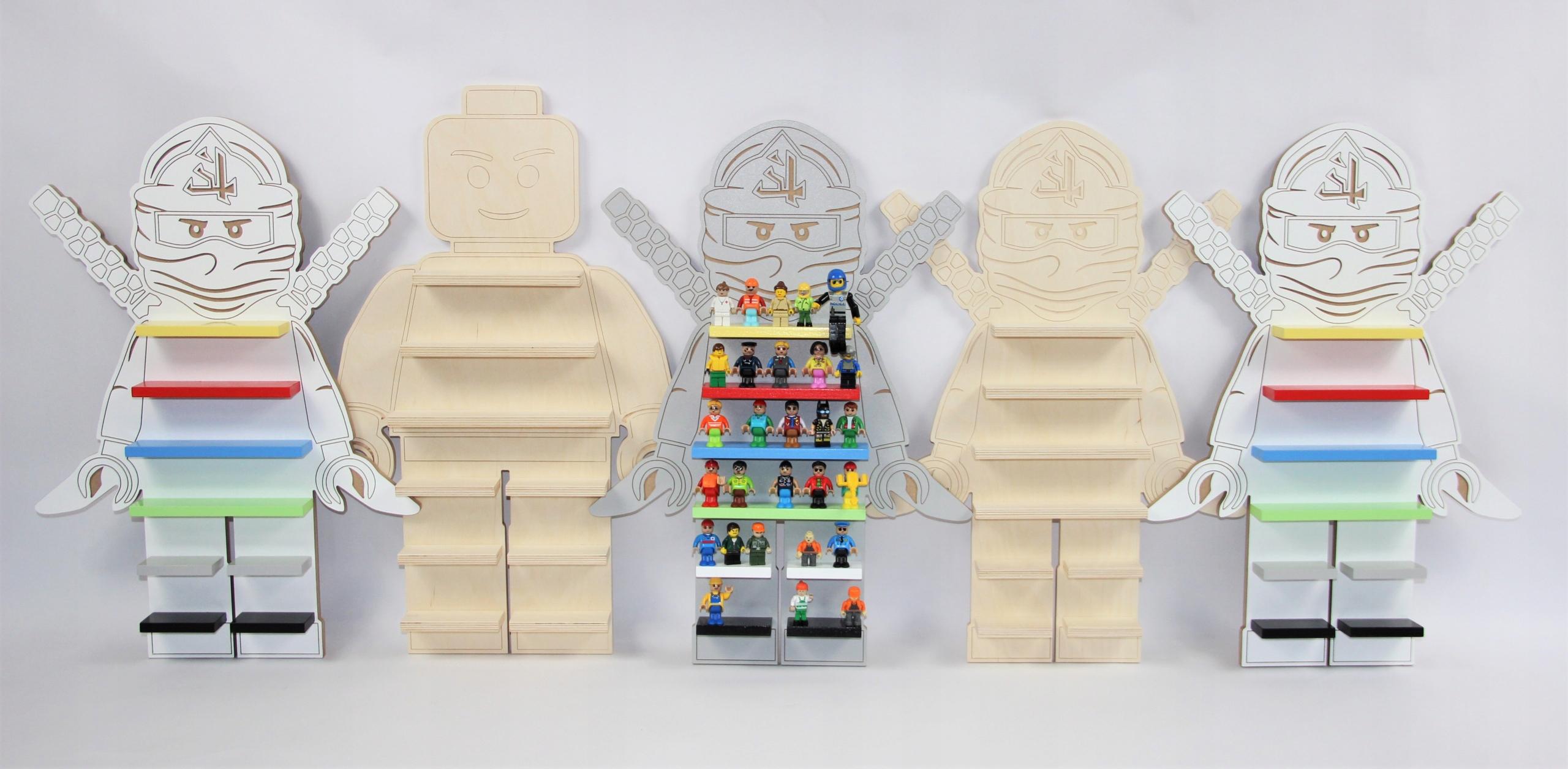 Biała Półka Regał Na Klocki Ludziki Lego Ninjago