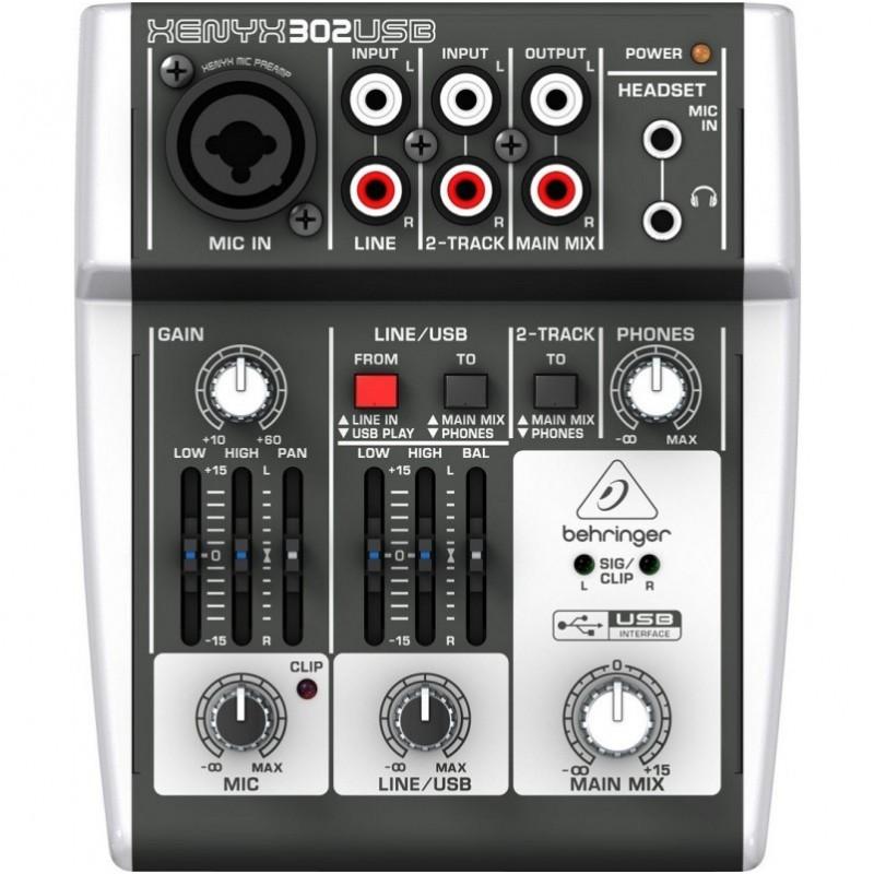 B-STOCK BEHRINGER XENYX 302 USB MIKSER