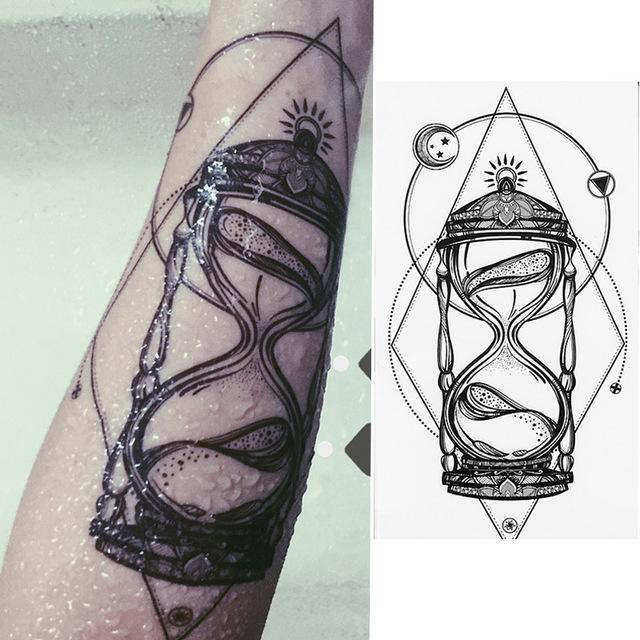 Tatuaż Zmywalny Klepsydra Czas Płynie 7338949261 Oficjalne