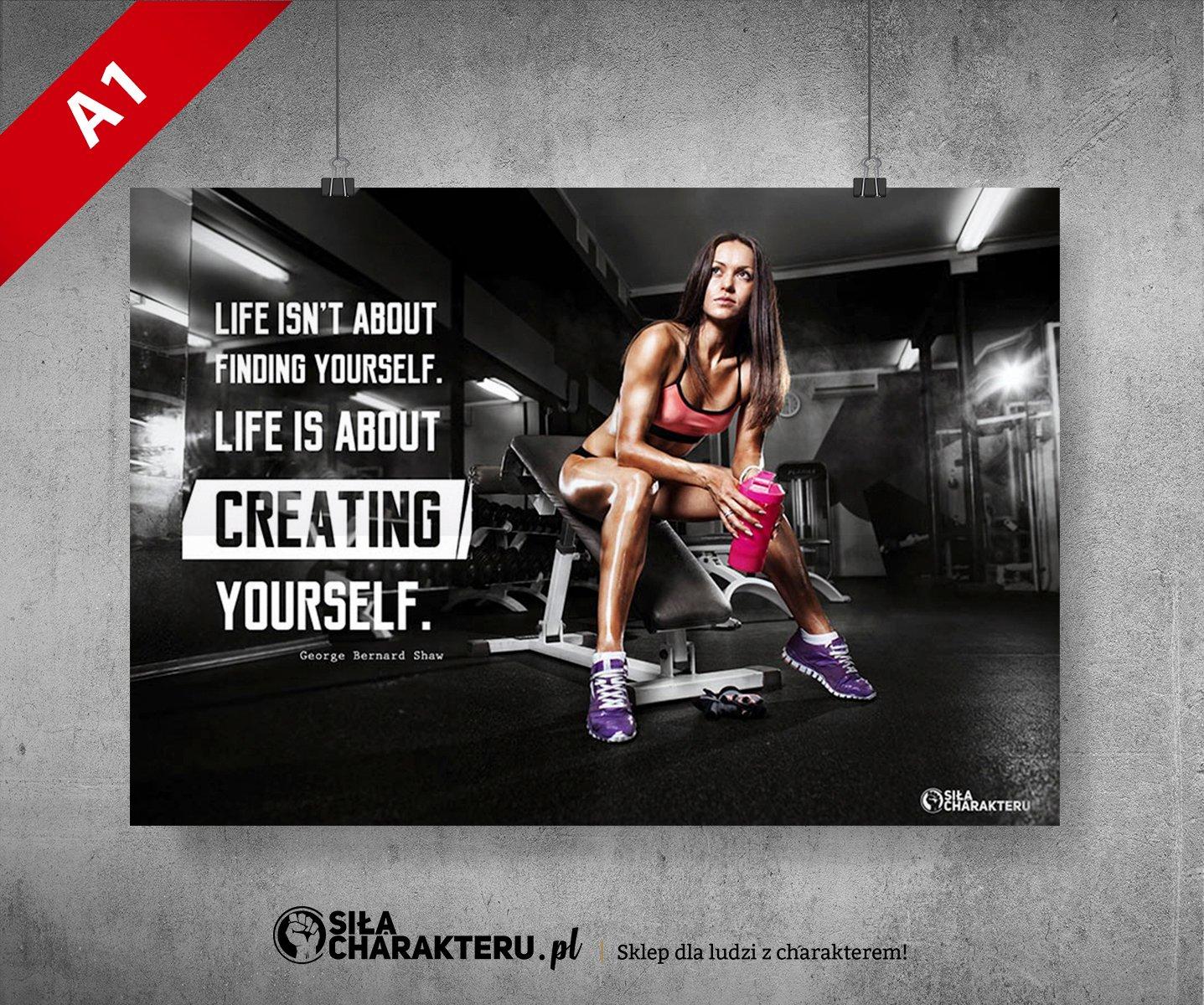 Plakat Motywacyjny A1 594 X 841 Fitness 018