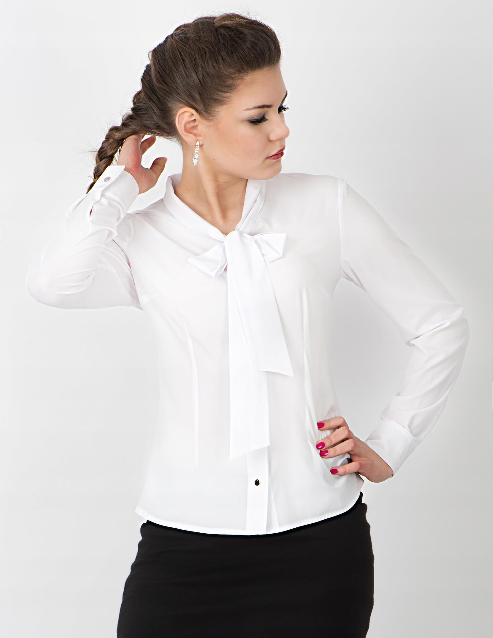 0eadf93b3723e Moira damska koszula biała z krawatem, kokardą 44 - 7256850712 ...