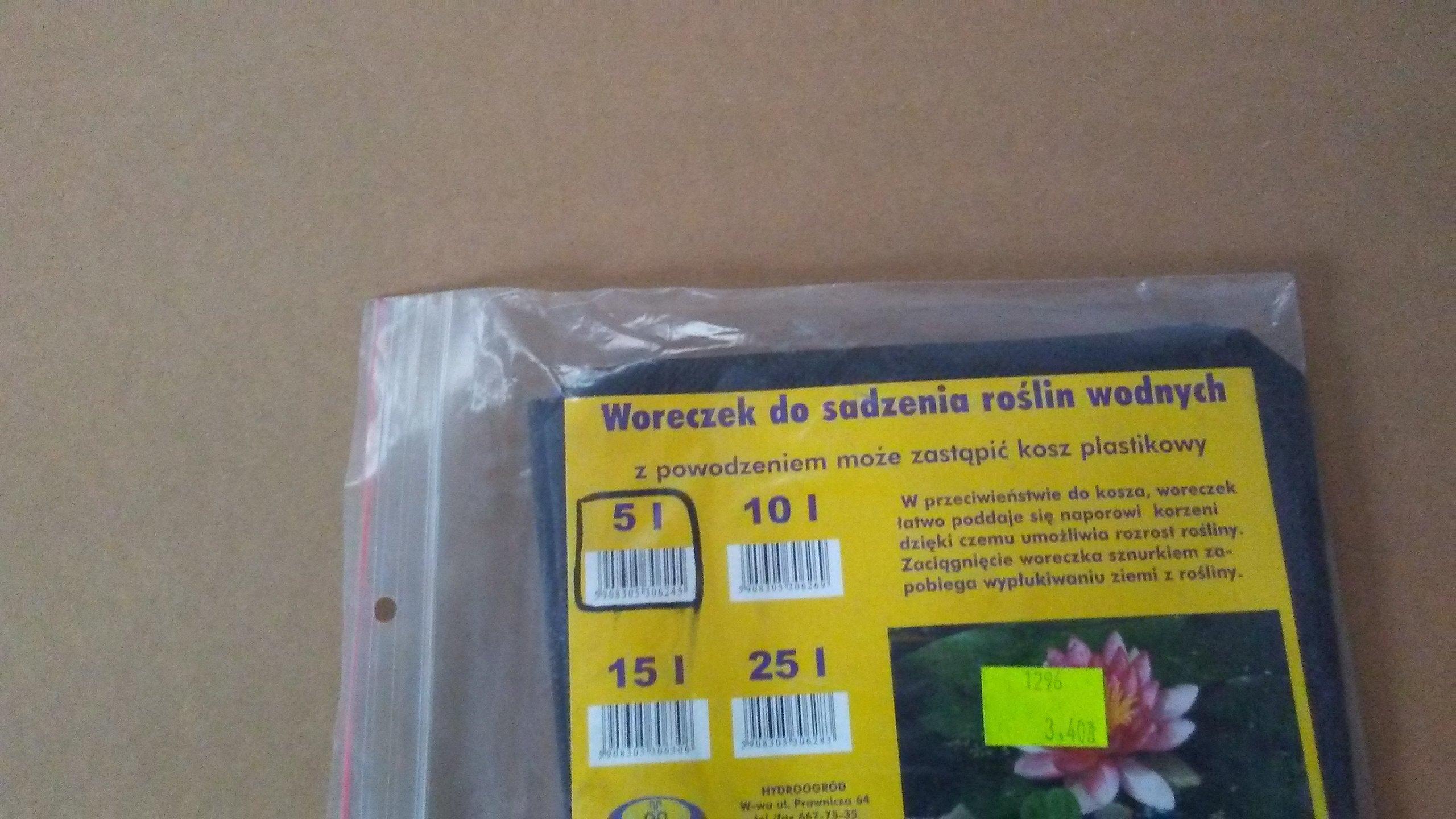 Woreczek do sadzenia roślin wodnych 5l
