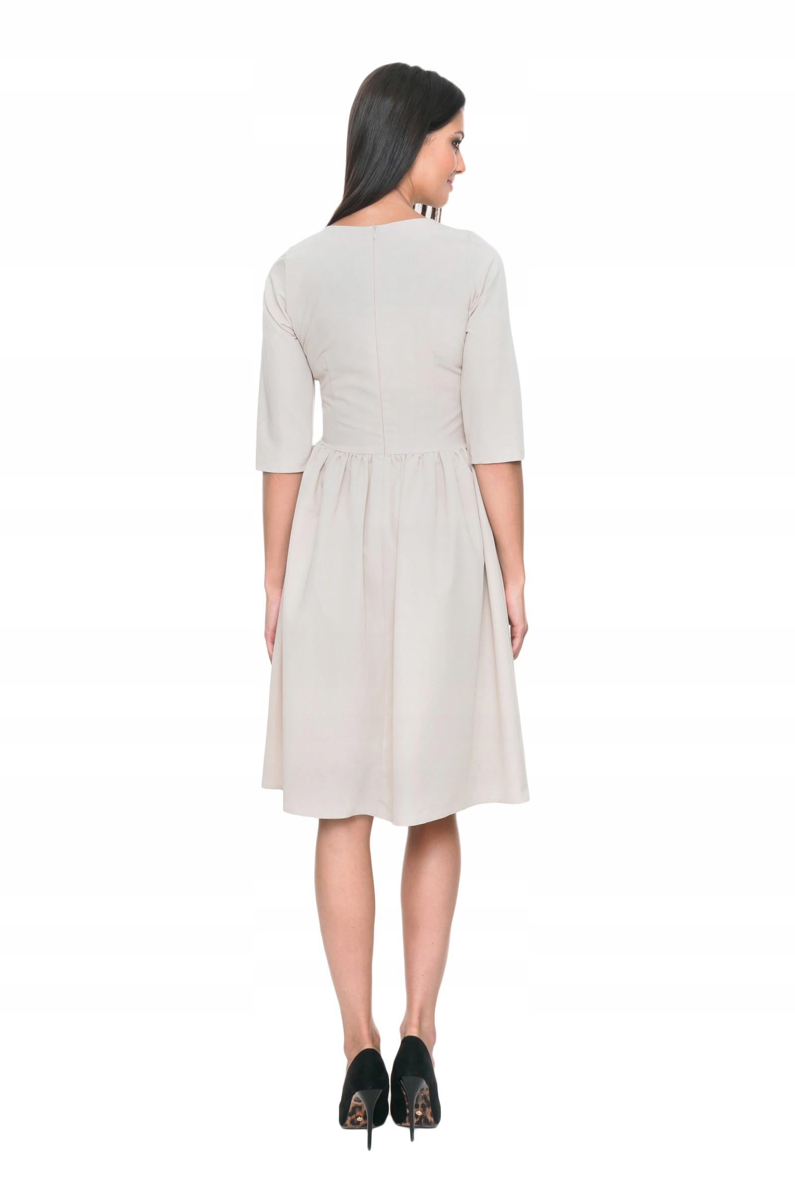 72ab1af729 Sukienka rozkloszowana MOSALI beżowy r.M - 7594369272 - oficjalne ...