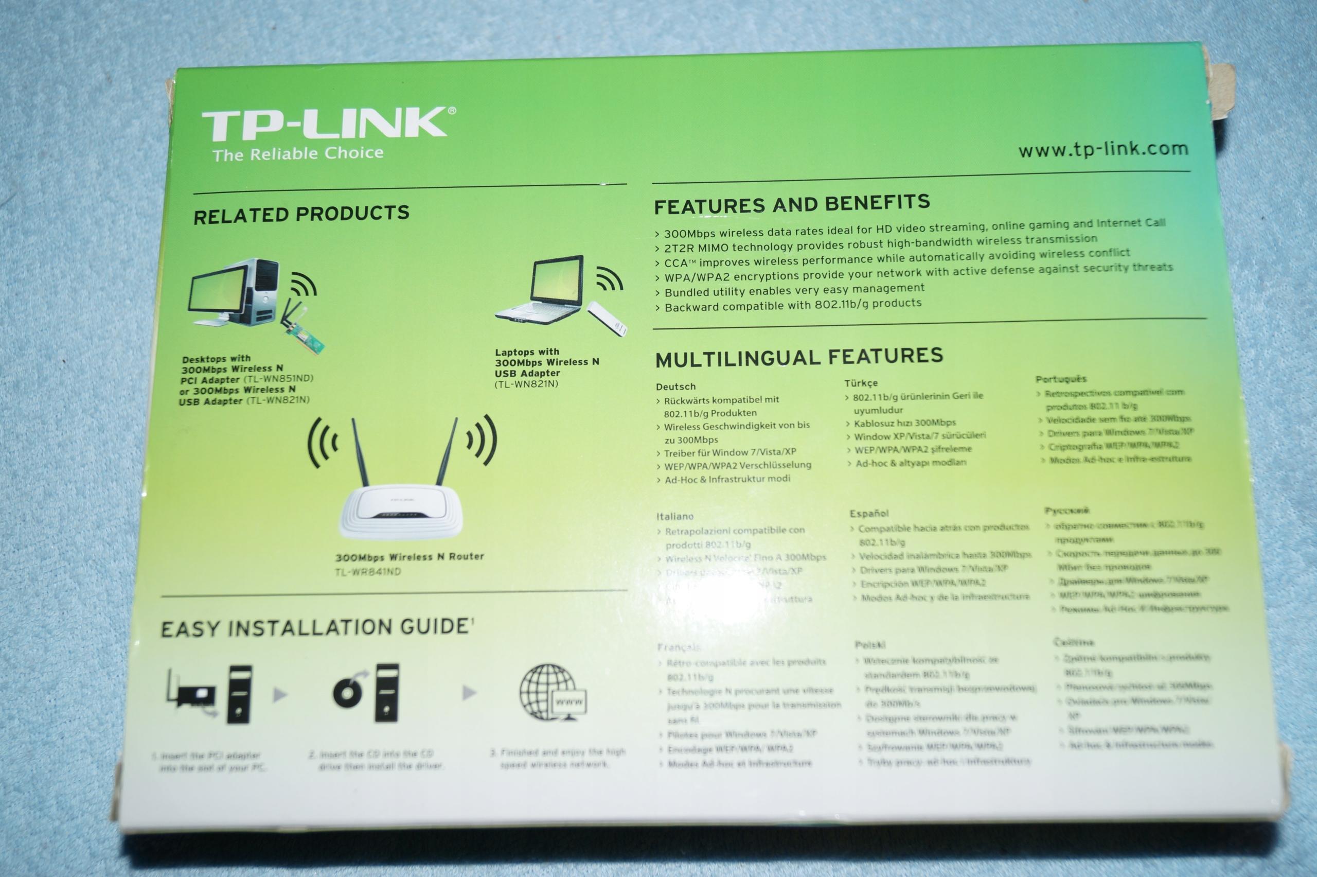Karta sieciowa WIFI 300Mbps TP-LINK TL-WN851ND PCI