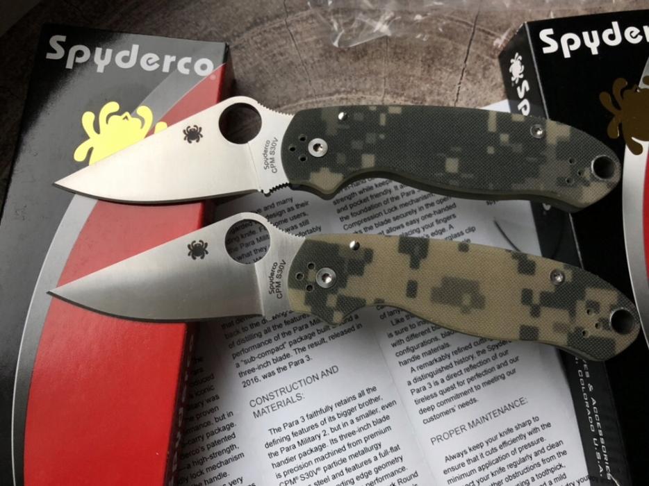 Nowy noż Spyderco Para 3 Camo G10 S30V