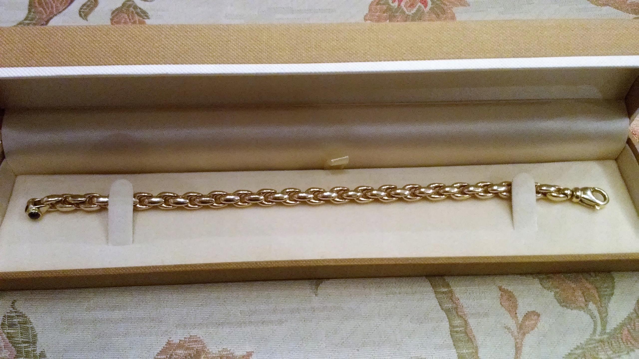 1a1054845ab129 Złota bransoletka z szafirem APART - 7656816778 - oficjalne archiwum ...