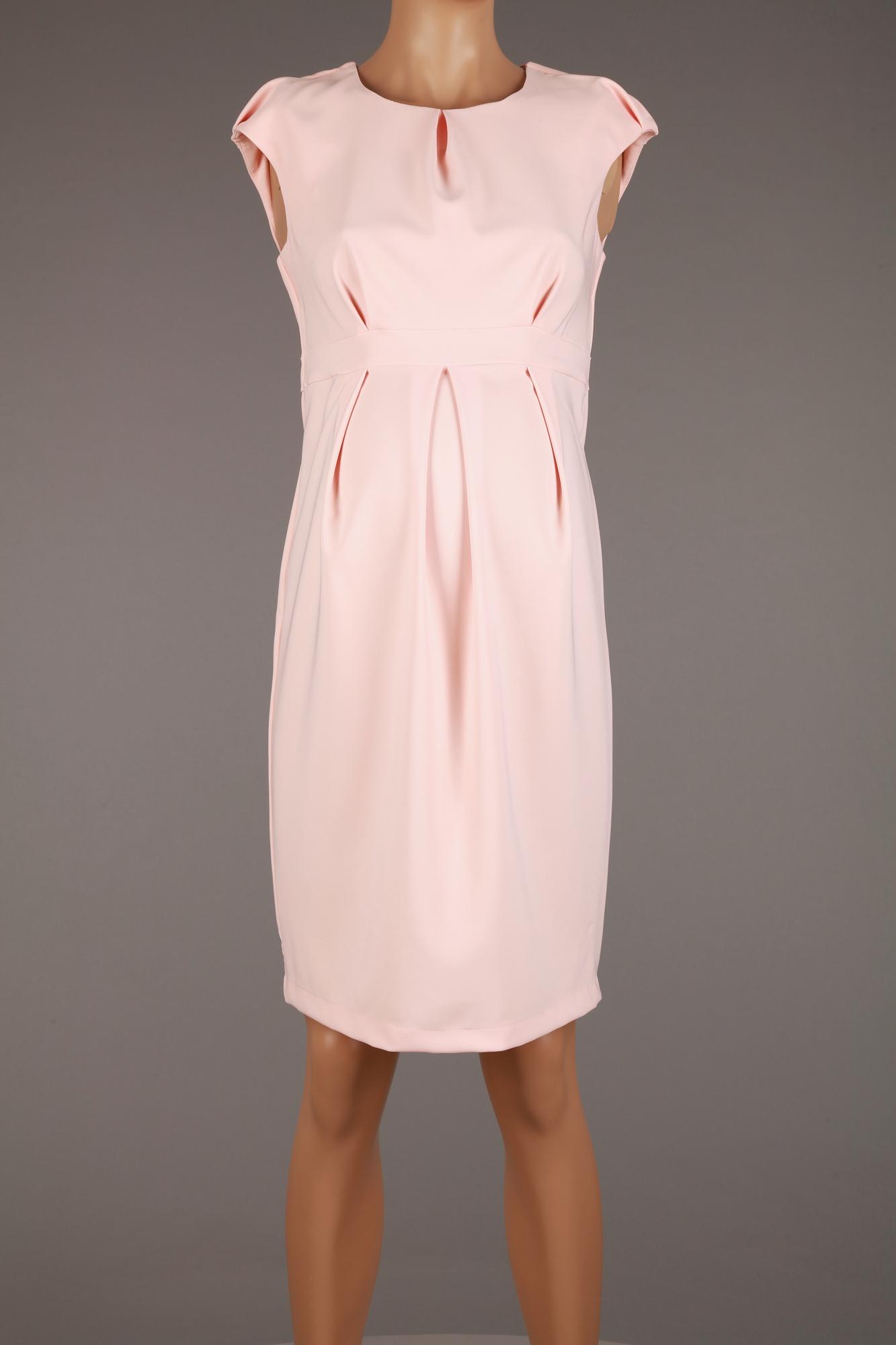 4418 BRANCO sukienka CIĄŻOWA pudrowy róż 42/XL