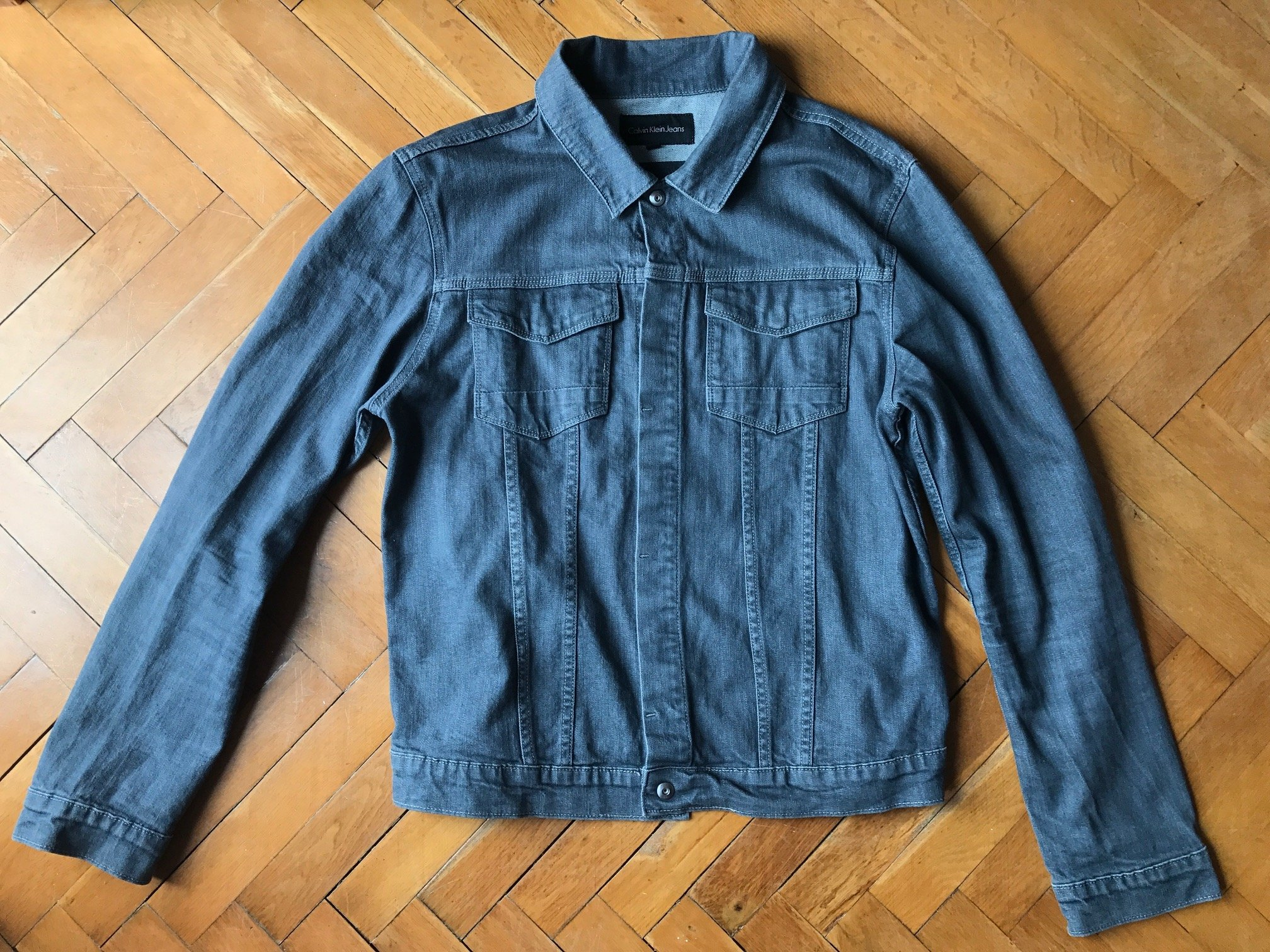 kurtka jeansowa meska calvina kleina z roku 2017