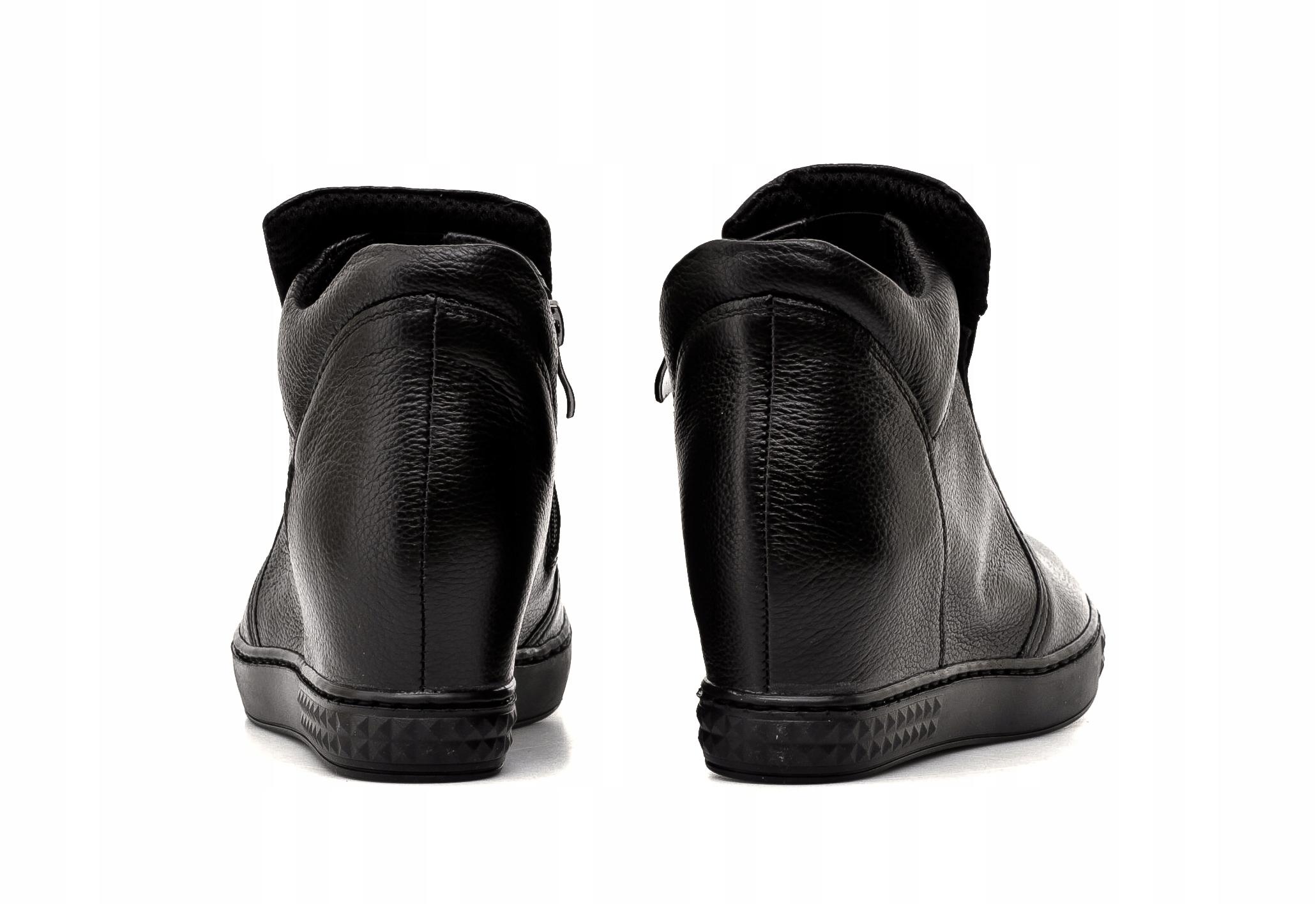 cda46602c3587 Sneakersy Damskie Venezia Czarne 1122C r.37 od GS - 7662647725 ...