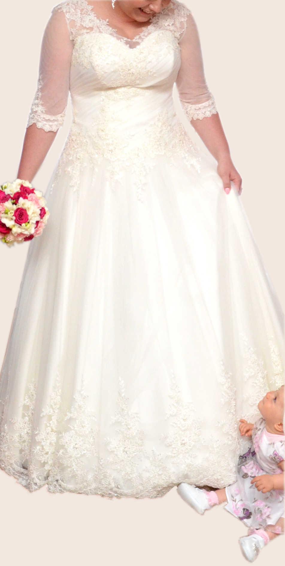 Suknia ślubna Ms Moda Tina Dla Puszystych 44 Komis 7087971878
