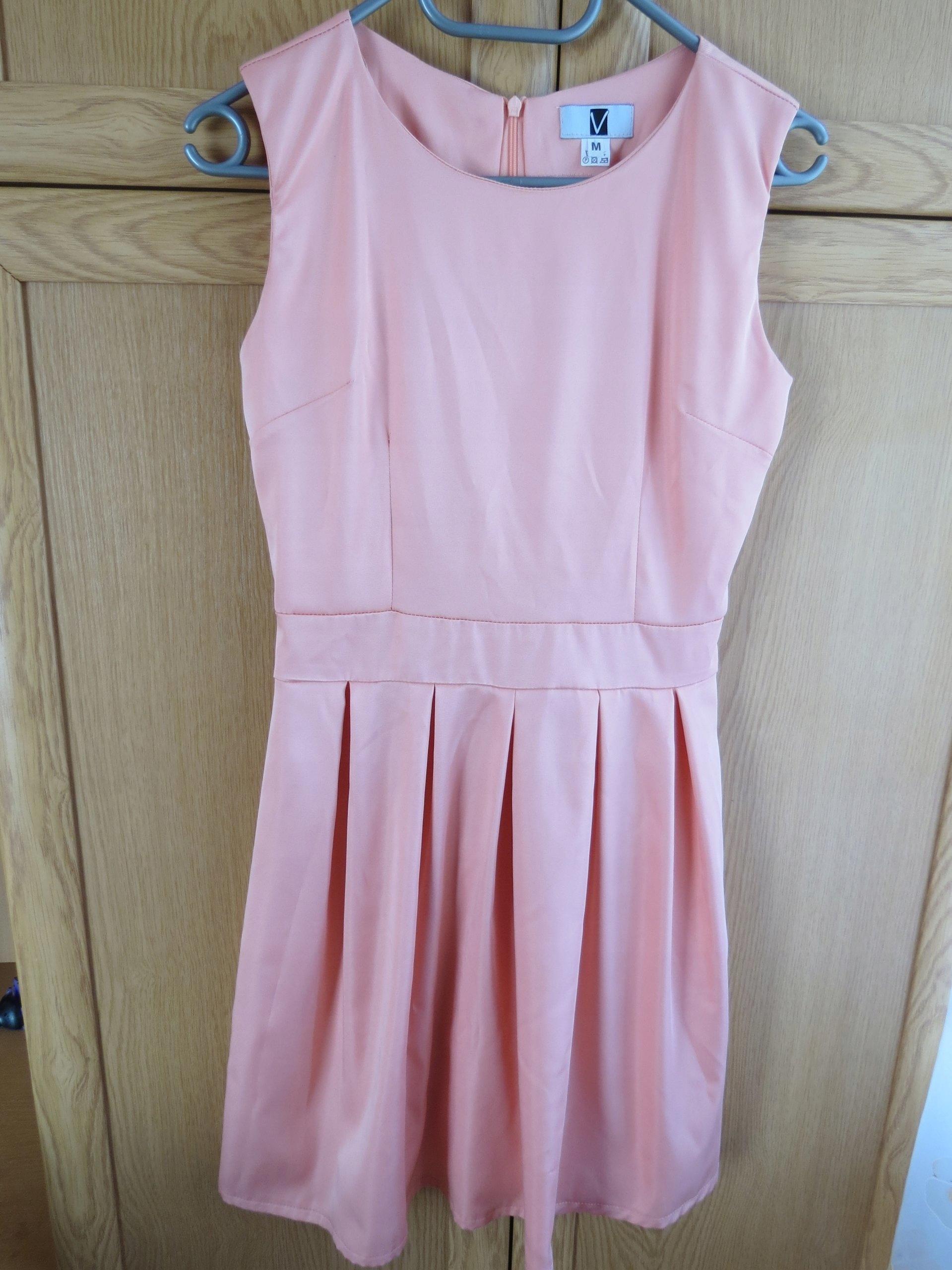 d5a5799121 Łososiowa sukienka Vubu rozmiar M - 7311862738 - oficjalne archiwum ...