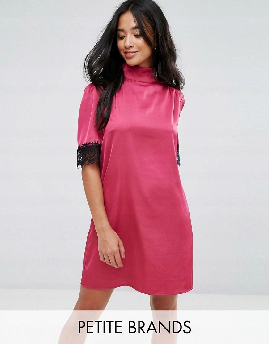 486fab9f31 Fashion Union Różowa Satynowa Sukienka XXS 32 - 7553064595 ...