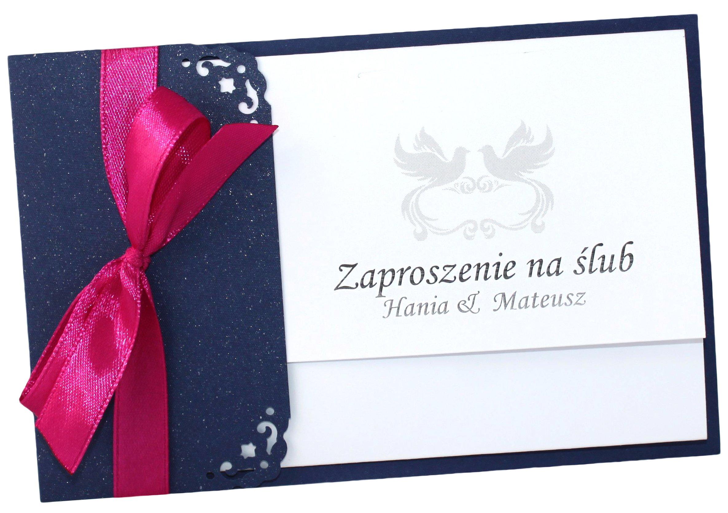 Zaproszenia ślubne Na ślub Urodziny Zawiadomienie 7013802126
