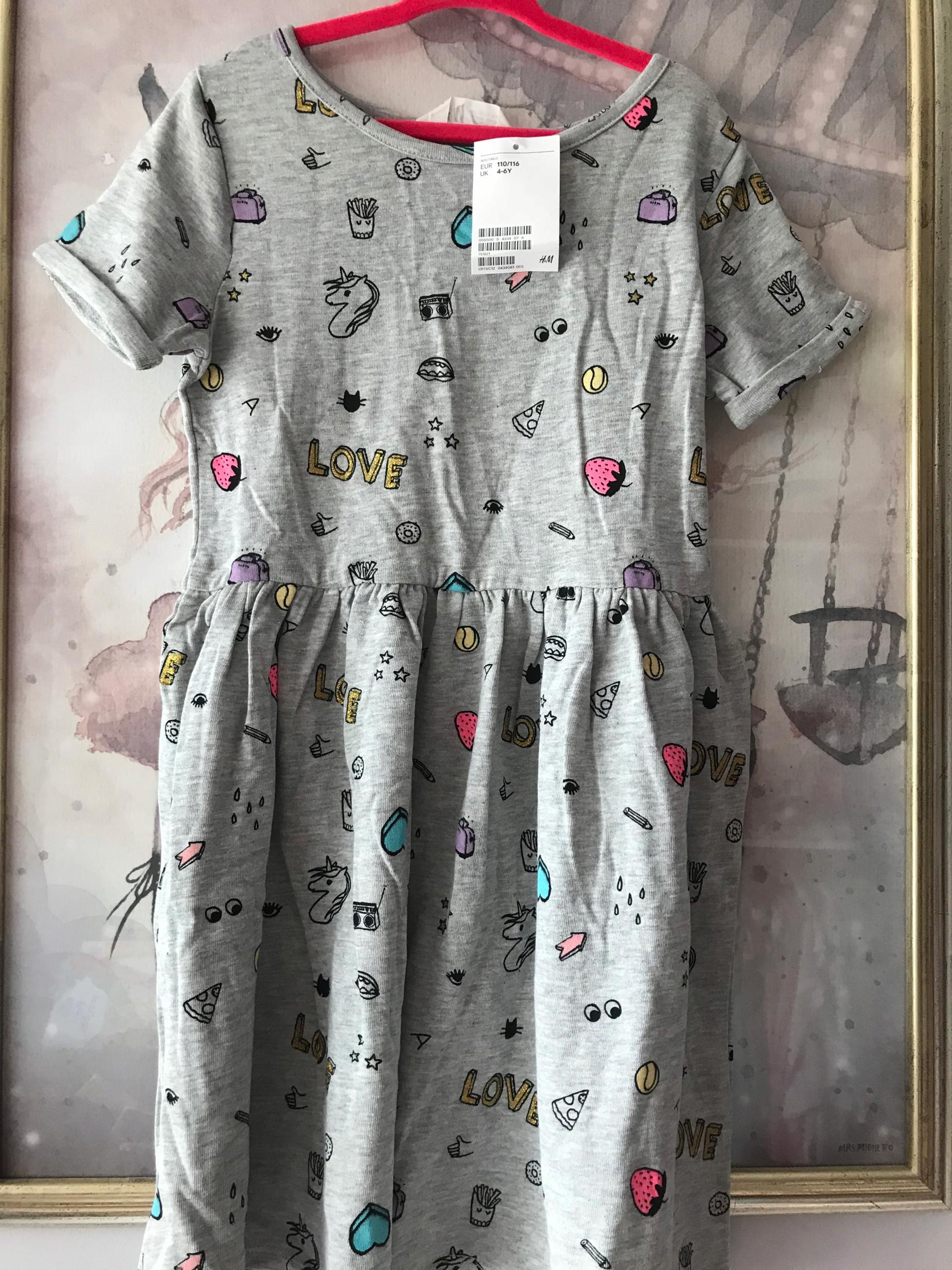 e2b28f28c2 H M szara dresowa sukienka 110 116 - 7578140989 - oficjalne archiwum ...