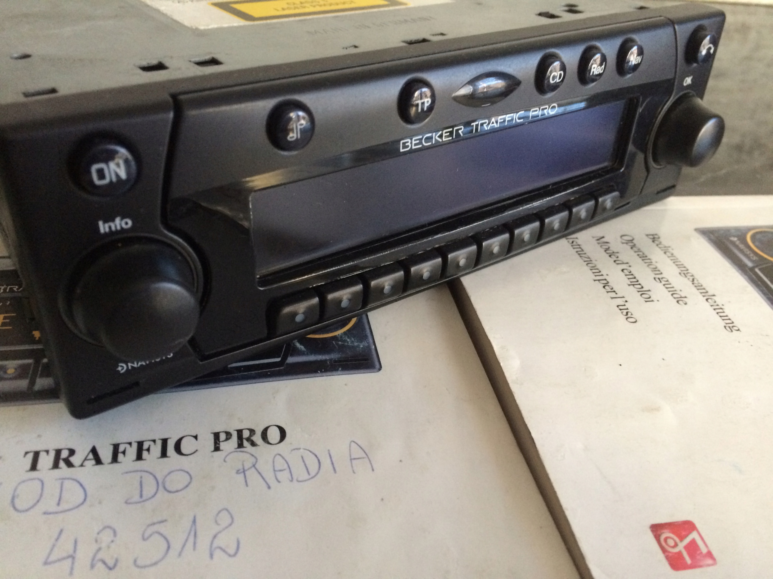 radio Becker traffic Pro do bmw e36 i innych