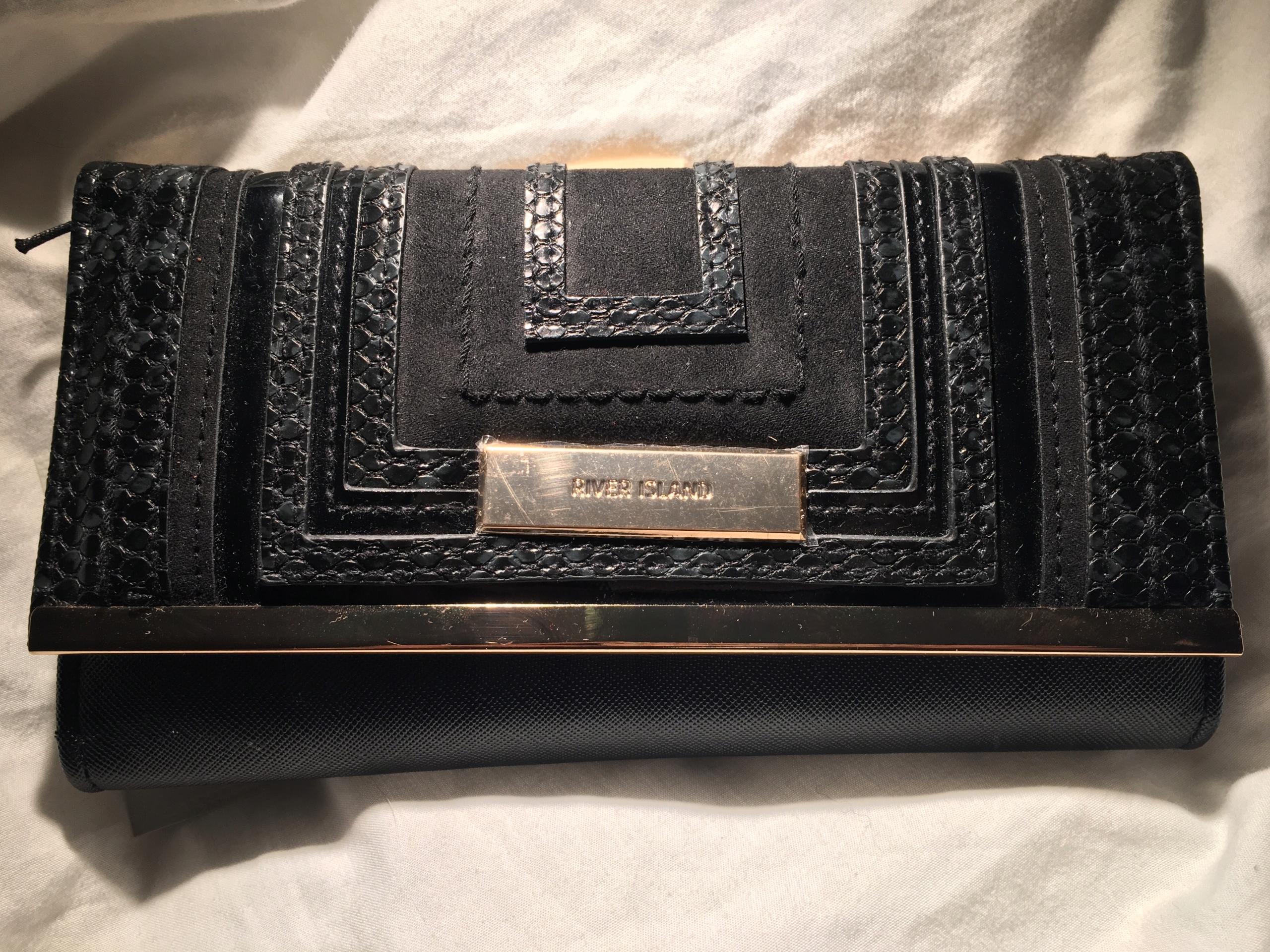 0c2bcad827696 River Island portfel NOWY z UK klasyczny czarny - 7708596017 ...