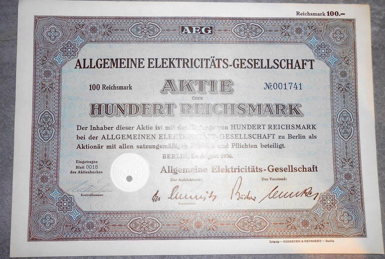 AEG SŁYNNA NIEMIECKA FIRMA ELEKTRONICZNA 1936 R !