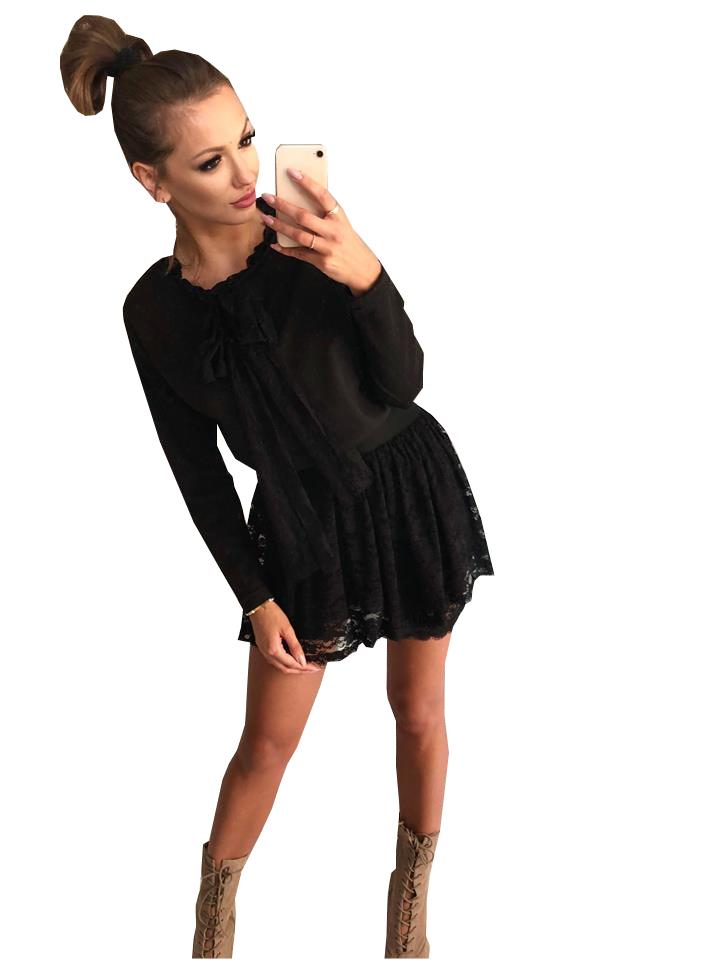 d04376da0ac807 Kobieca koronkowa sukienka Cocomore czarno-szara - 7151442762 ...