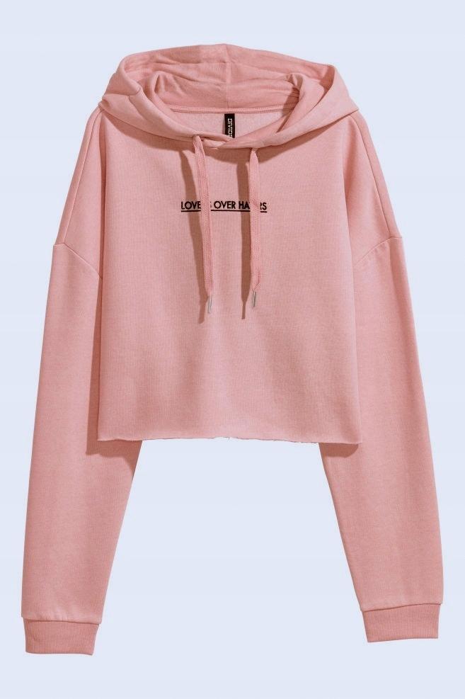 90e59fe008 Krótka bluza z kapturem H M różowa XS - 7598510006 - oficjalne ...