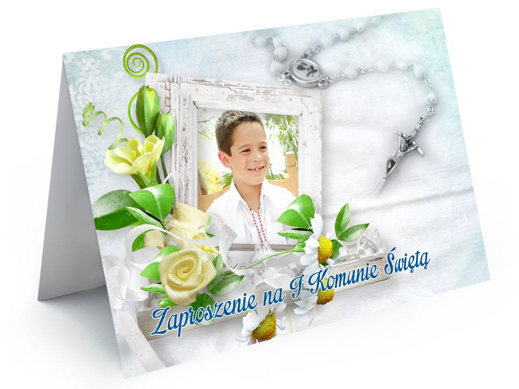 Foto Zaproszenia Na I Komunię Ze Zdjęciem 7126243352 Oficjalne