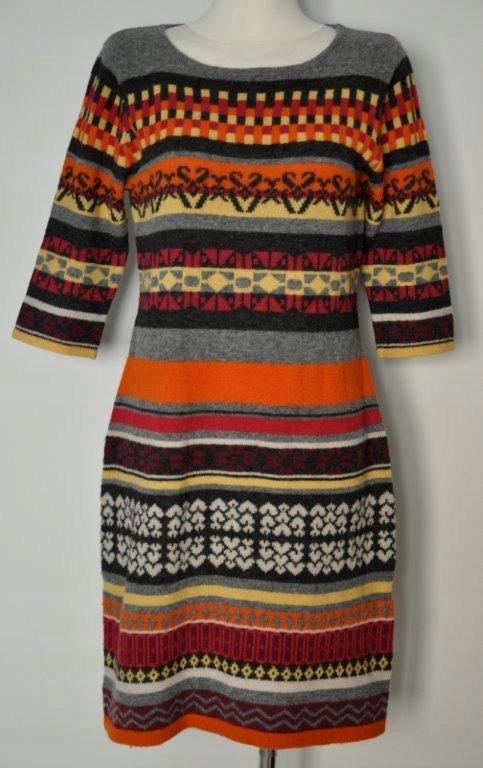 SOLAR śliczna kolorowa i ciepła sukienka r. L