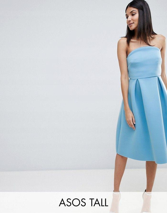 627f5e890a ASO Tall Niebieska sukienka odkryte ramiona (40) - 7623206927 ...