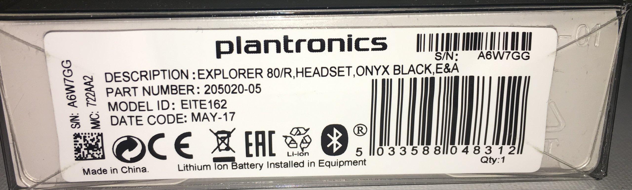 3f93a663cd5 Nowa Słuchawka Bluetooth PLANTRONICS Explorer 80 - 7181894046 ...