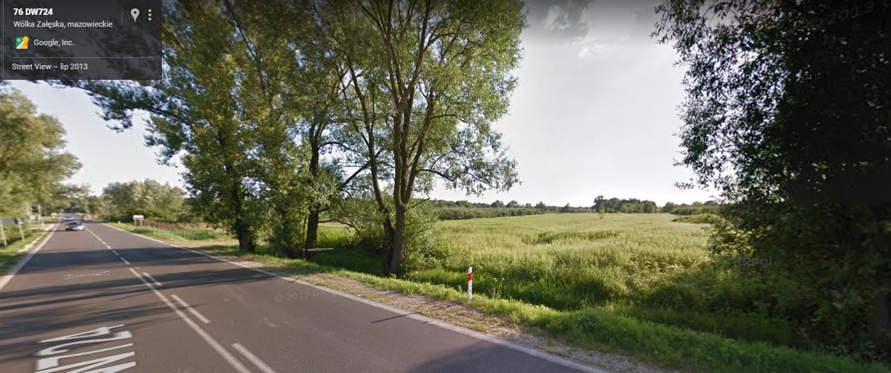 Działka 1,05 ha 215x48m Wólka Załęska