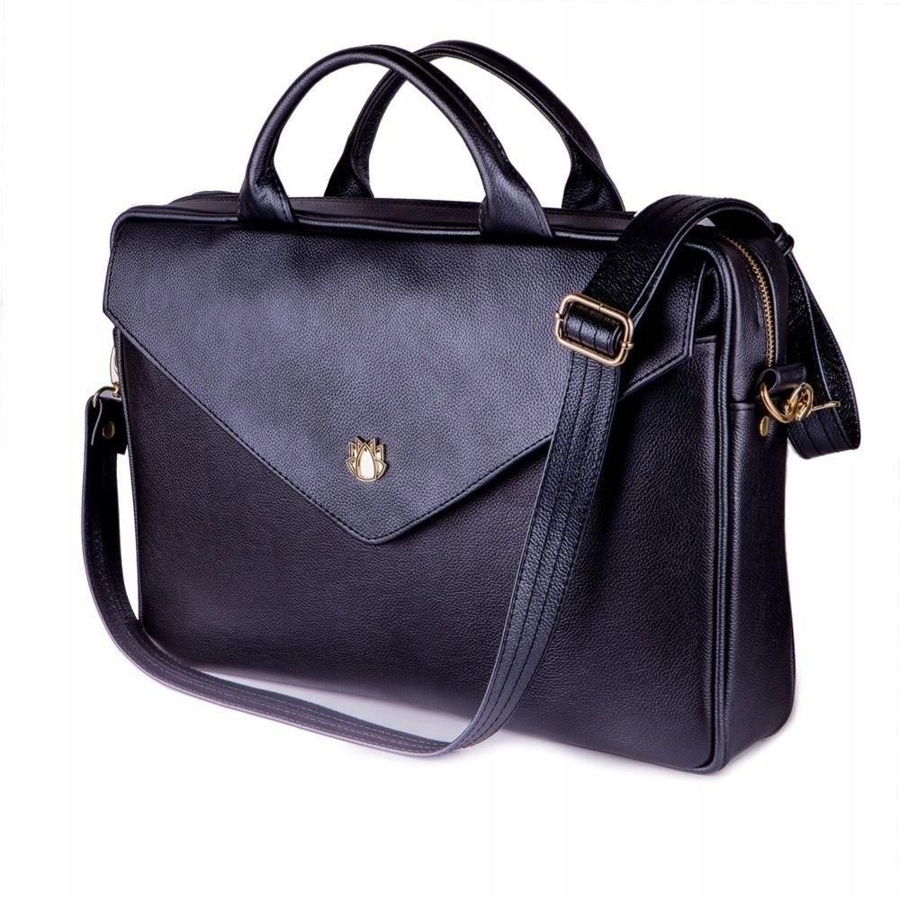 ea5fcfdfde02a Skórzana torba na laptopa FL15 Positano czarna - 7673770464 ...