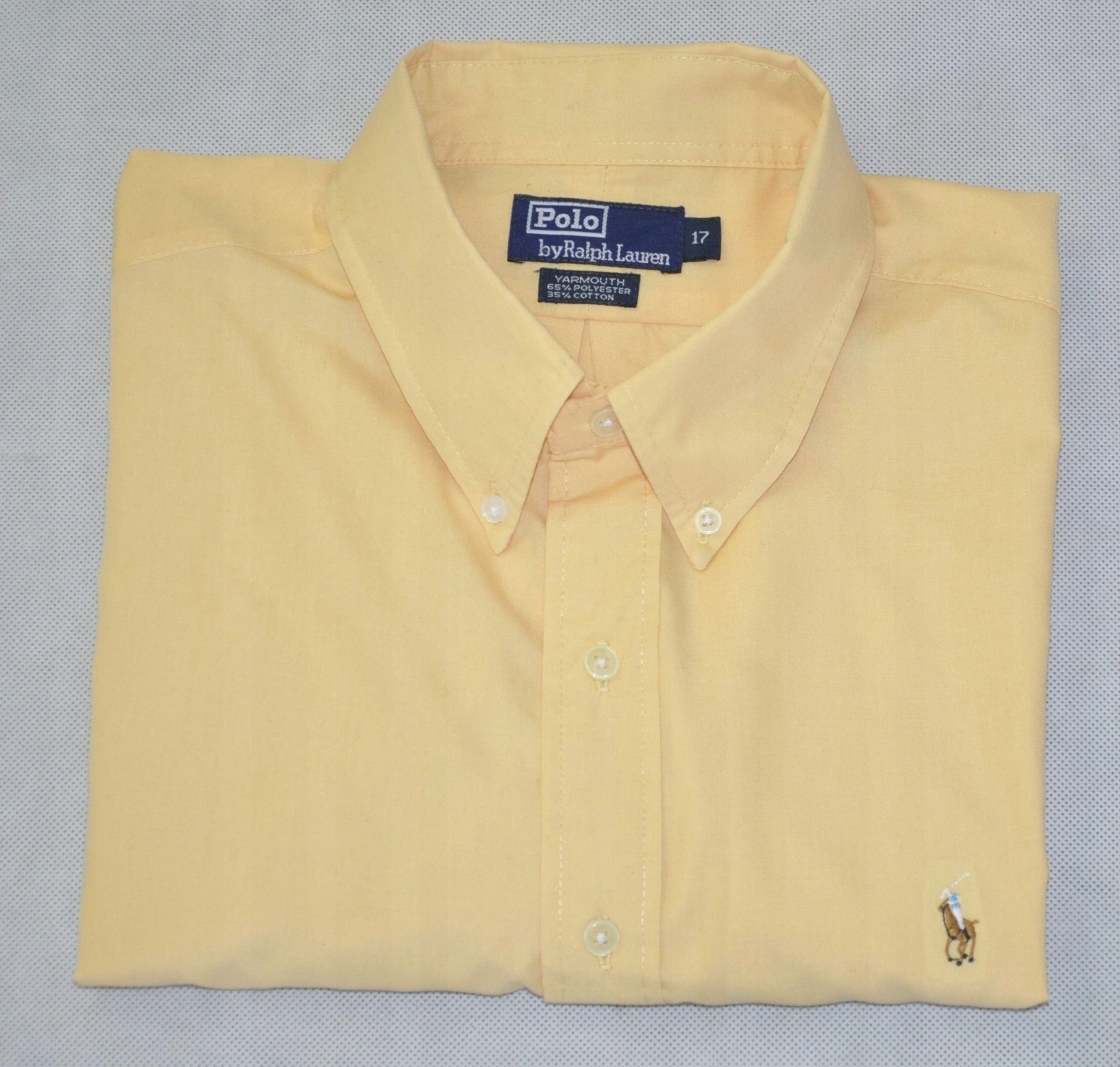 RALPH LAUREN YARMOUTH koszula męska żółta XXL 44