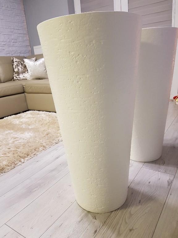 Duże Białe Donice 78 X 40 Jak Beton Biały 7111167184