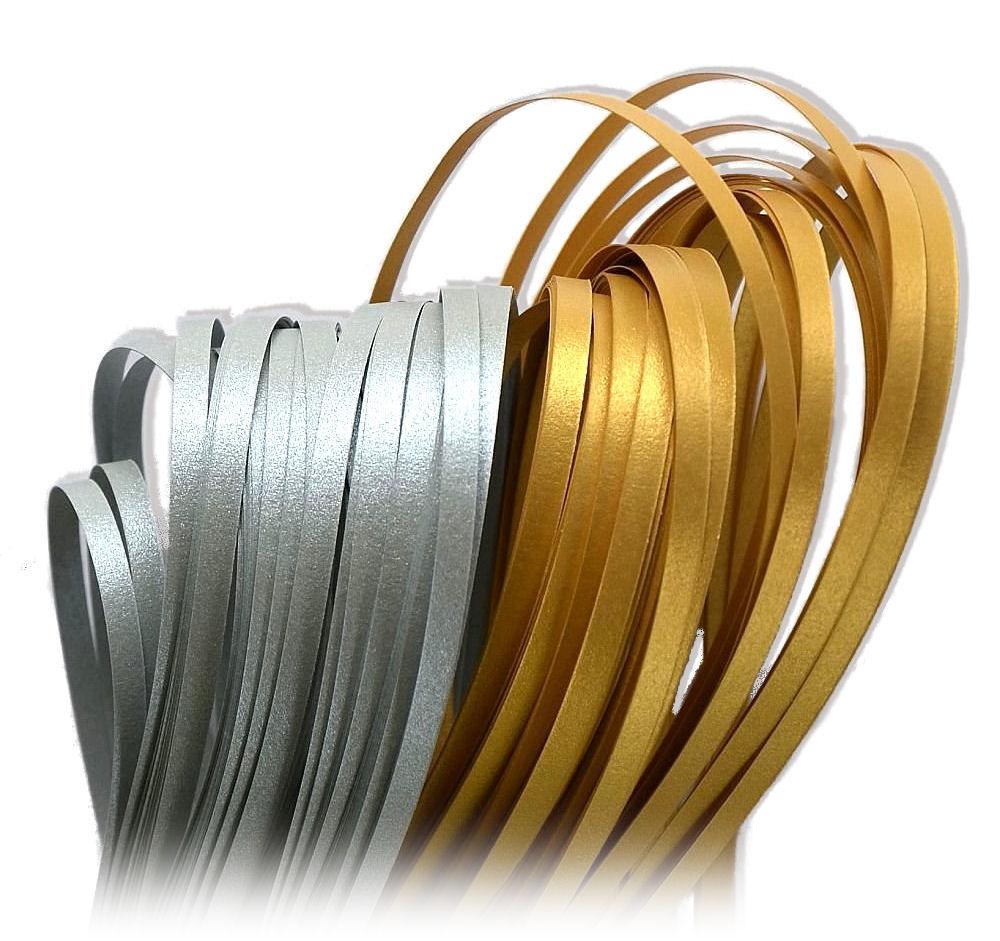 Quilling Paski metaliczne-perłowe sr-złote - 8mm