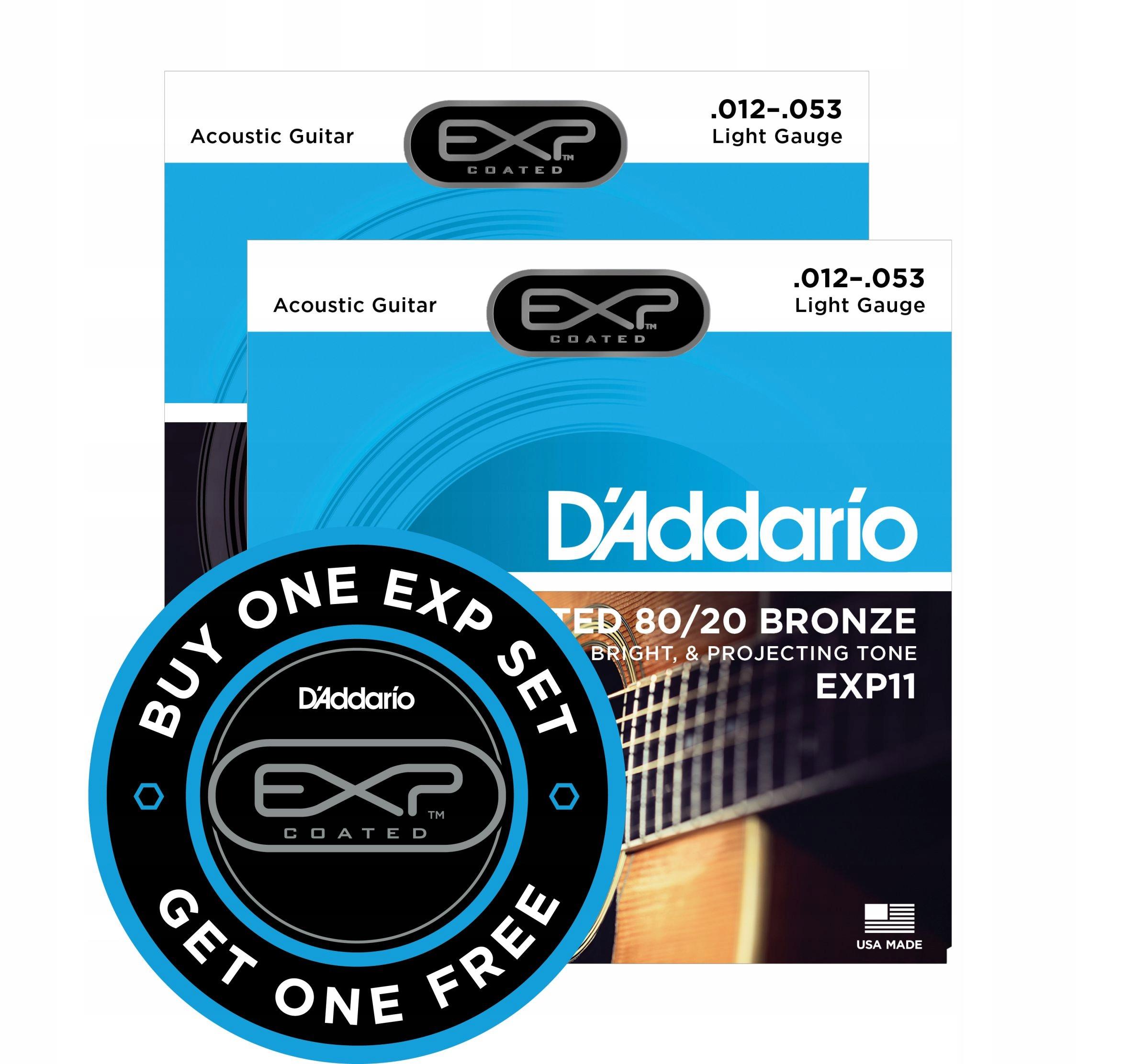 D'Addario EXP11 NY Coated 12-53 promocja 2 za 1 !@