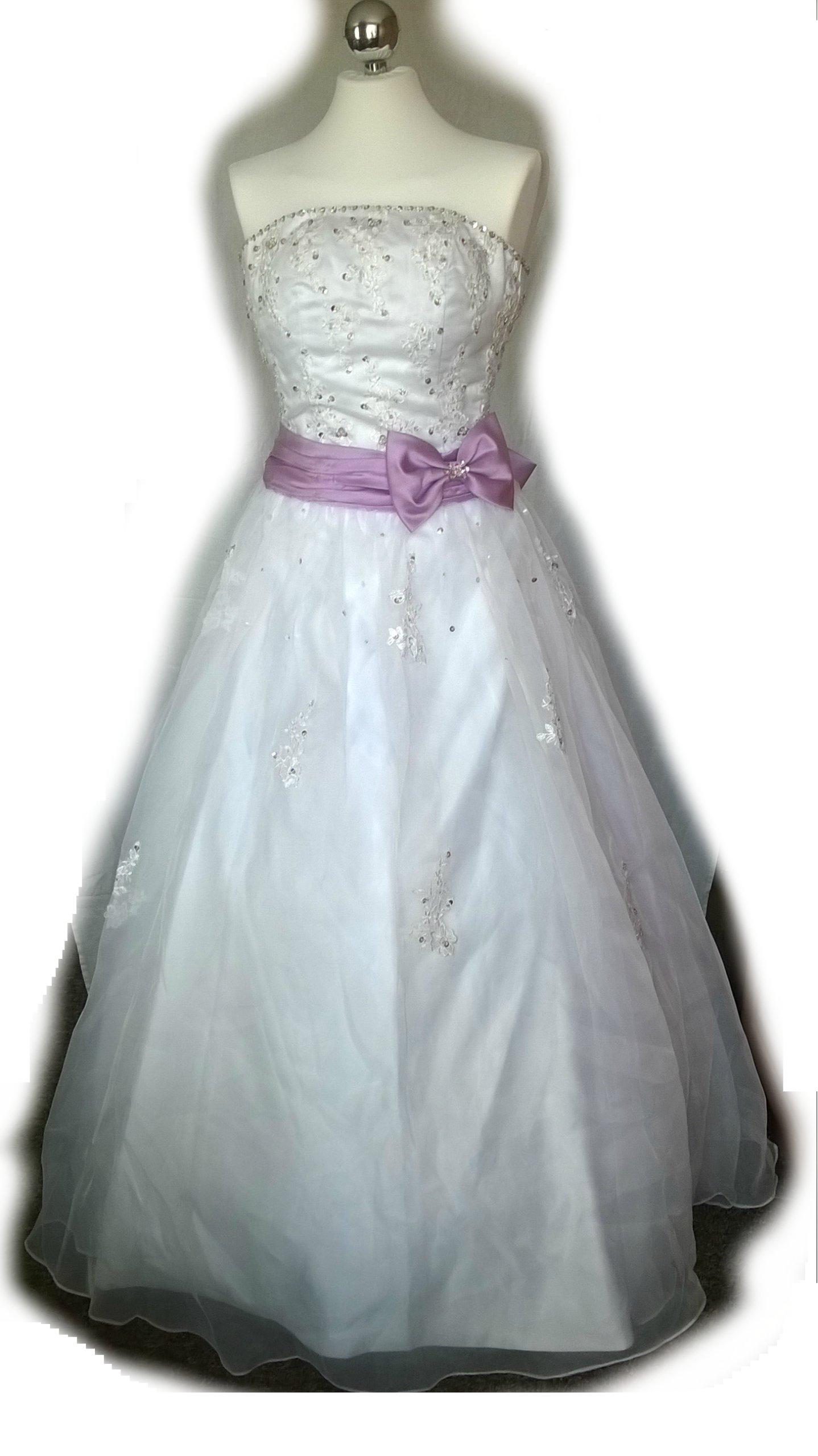 639e09106f Suknia sukienka ślubna biała roz. S (36) Gratisy! - 7090943636 ...