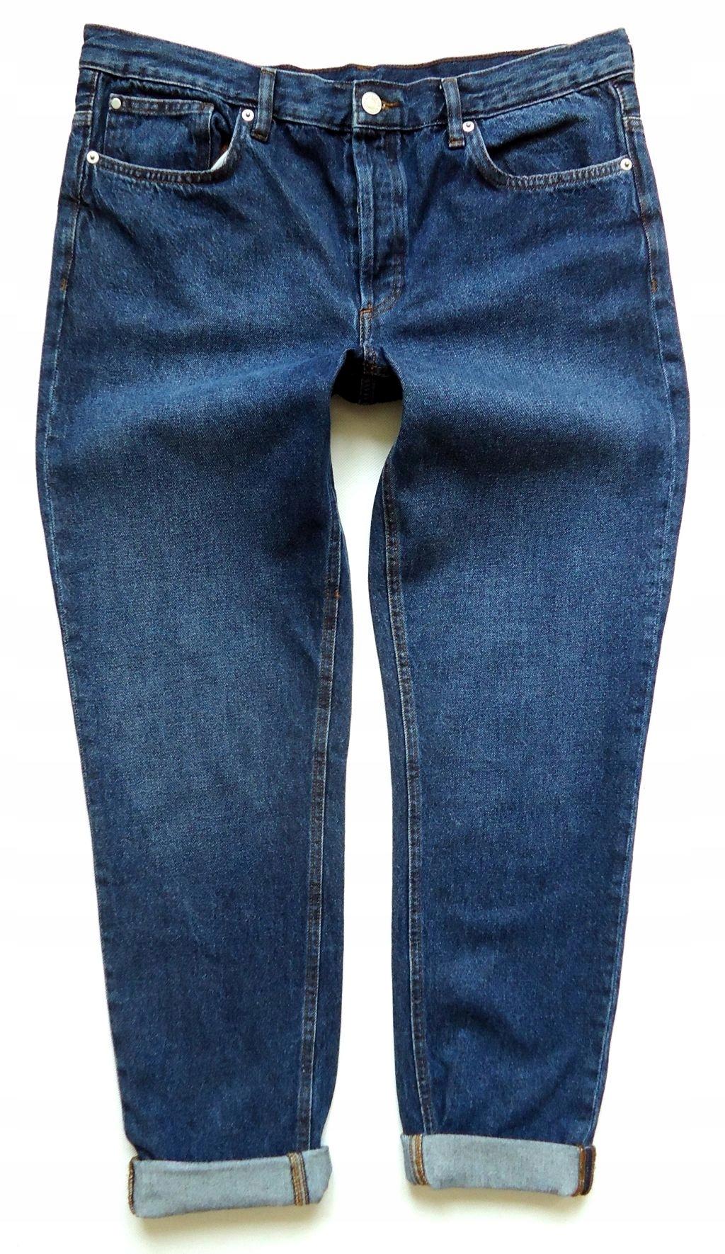 e030d02f17e2 H M spodnie jeansy rurki UNISEX 44 - 7521943119 - oficjalne archiwum ...