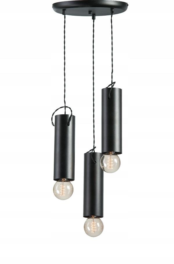 Nowoczesne Oświetlenie Czarna Lampa Loftowa Salon 7561783898