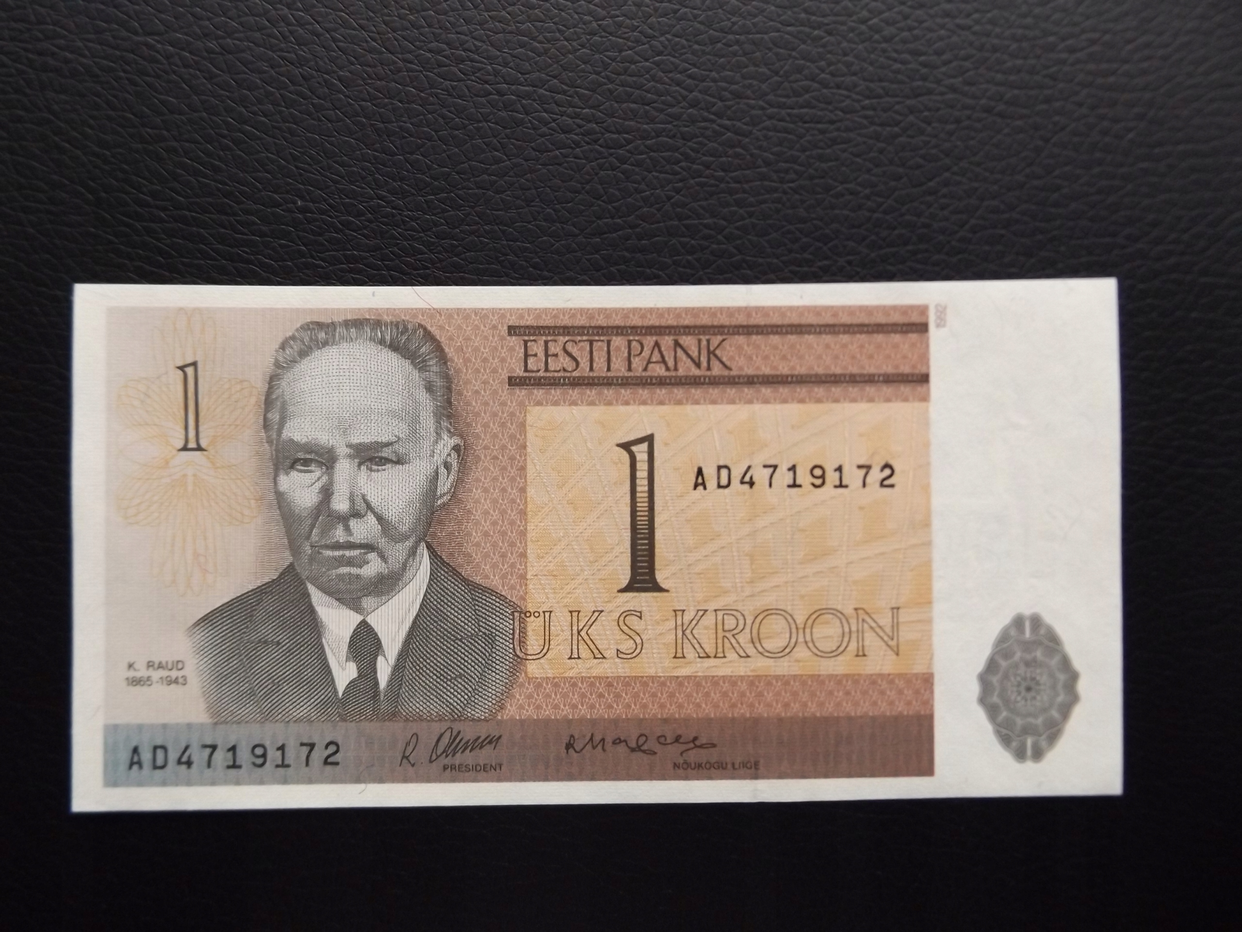 ESTONIA 1992 r. 1 KROON PIĘKNY STAN UNC