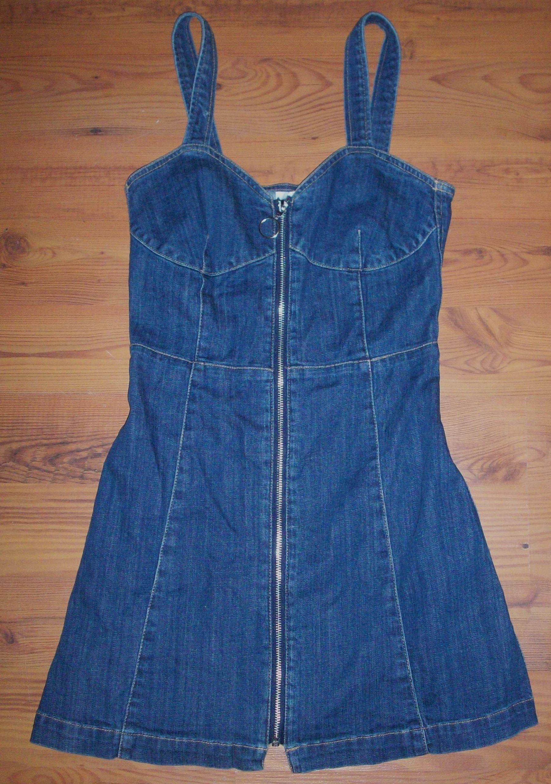 b4d0560efb Sukienka jeansowa niebieska granatowa H M 36 S - 7187923092 ...