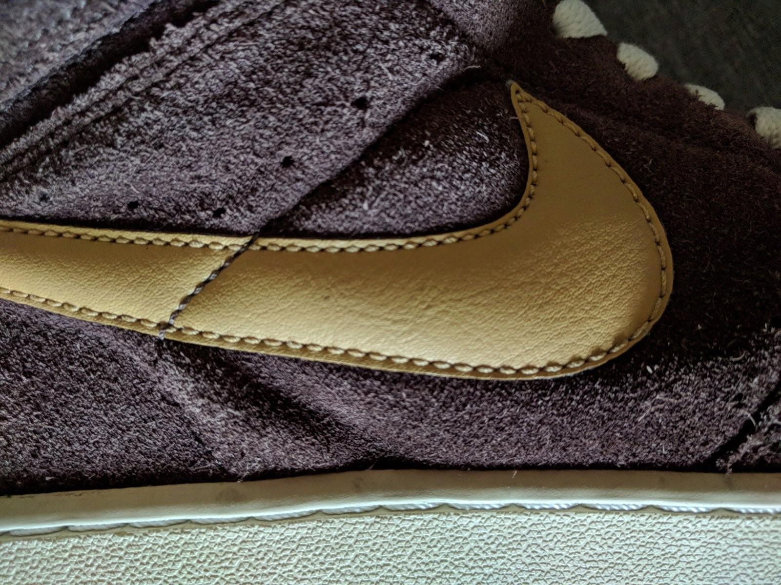Buty Nike zamsz brązowe 42 26,5 cm