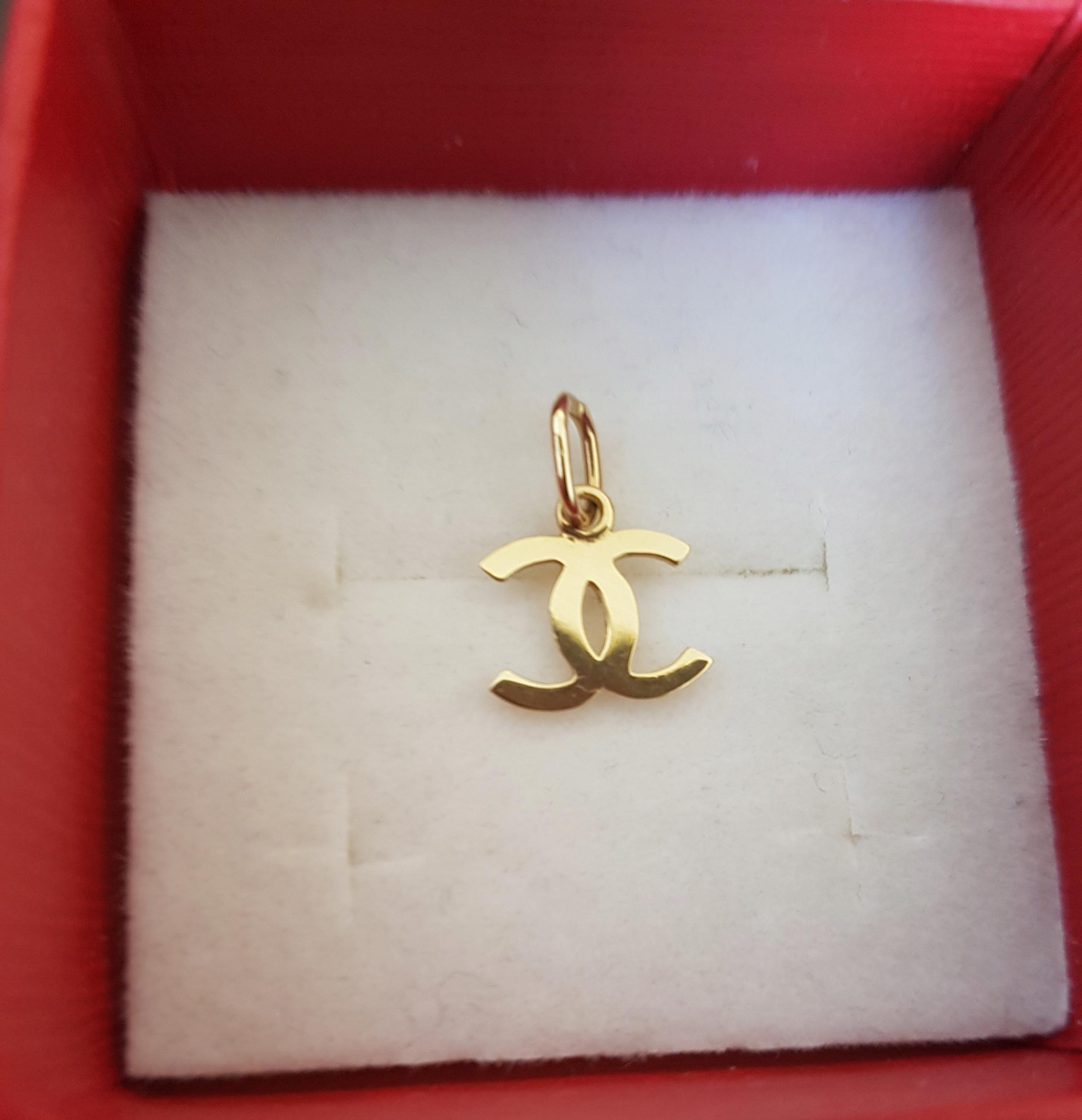 Złota zawieszka wisiorek Chanel 585 14K