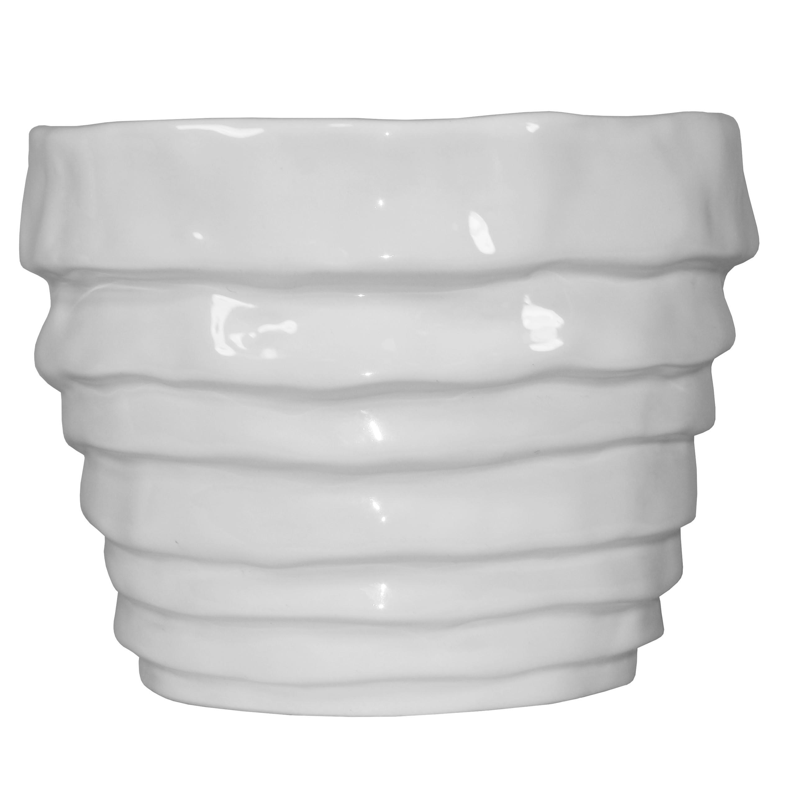 Osłonka Doniczka Ceramiczna Biała 10cm Storczyk X